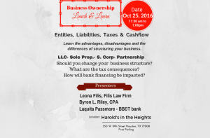 Business Ownership - Oct 25, 2016 - blog